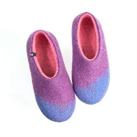 Εικόνα του προϊόντος Women s wool slippers AMIGOS sky blue lilac pink