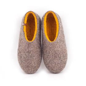 Εικόνα του προϊόντος womens house shoes DUAL NATURAL gray yellow